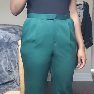Green Emerald Pleated Trousers